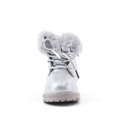 Silver girl boot with lace