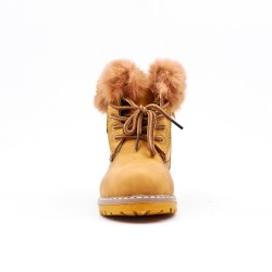 Camel girl boot with lace