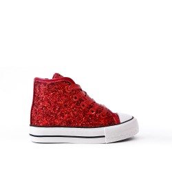 Tennis glittery girl red lace
