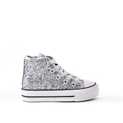 Silver glitter girl with lace