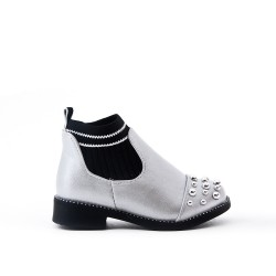 Ankle boots silver girl with sock