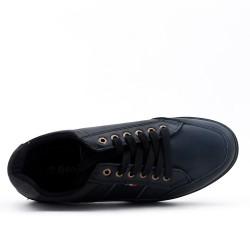 Basket noire à lacet