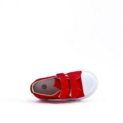 Tennis enfant en toile rouge