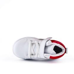 Zapatillas altas blancas con encaje para niño