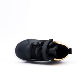 Basket montante noire à lacet pour enfant