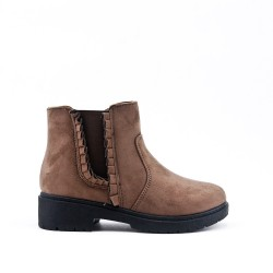 Khaki Girl Flying Ankle Boot