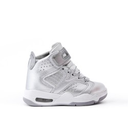 Silver kid's basket with air bubble soles