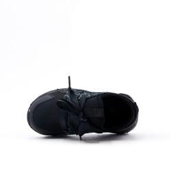Basket enfant noir à lacet ruban
