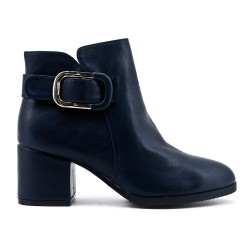 Ankle boot in imitation leather with heel