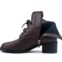 Brown ankle boot