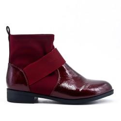 Red flat bi-material boot