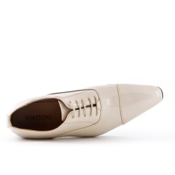White lace-up derby
