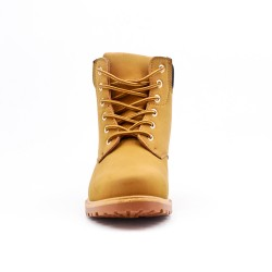 Camel lace-up boot