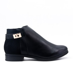 Bi-material black boot with flange