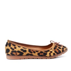 Leopard ballerina with bow