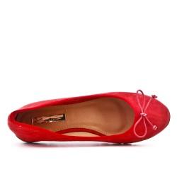 Ballerine rouge à nœud