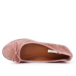 Ballerine rose à nœud
