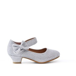 Babies silver girl with heel
