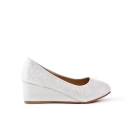 Chaussure blanche compensé pour fille