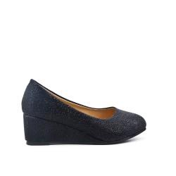 Chaussure noir compensé pour fille