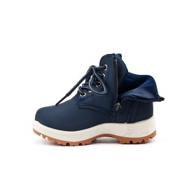 Blue child boot with lace