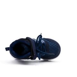 Cesta para niños azul con encaje