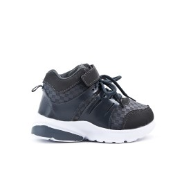 Zapatillas con cordones para niños de color gris
