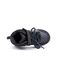 Basket enfant grise à lacet