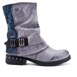 Gray double-material boot