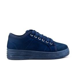 Basket bleu à lacet
