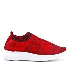 Basket rouge en textile extensible