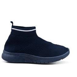 Basket bleu en textile extensible