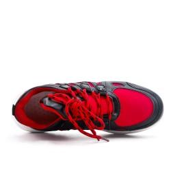 Basket rouge à lacet