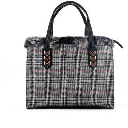 Checked handbag