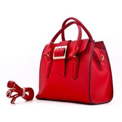 Handbag with buckled bridle
