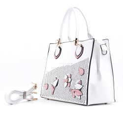 Handbag with flower