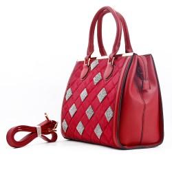 Bi-material handbag