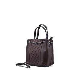 Handbag with buckled bridle