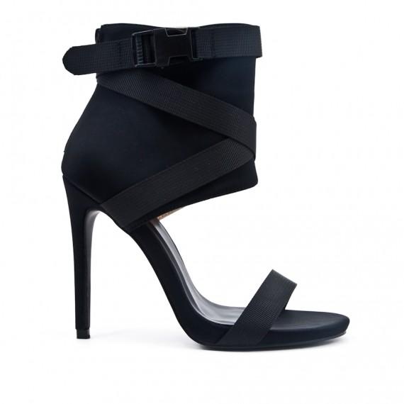 really cheap factory price price reduced Sandale montante noire à talon