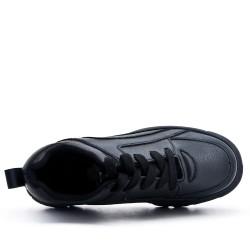 Basket noire à lacet avec plateforme