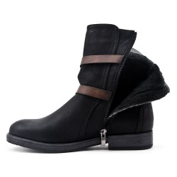 Black ankle boot