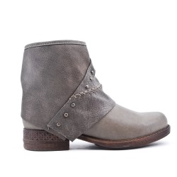 Gray ankle boot