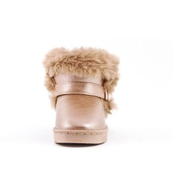 Furry golden girl boot