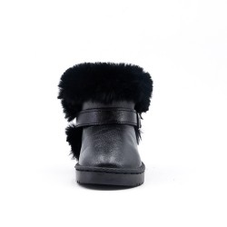 Furry black girl boot