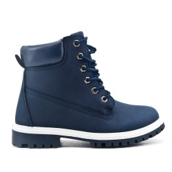 Blue boot with lace