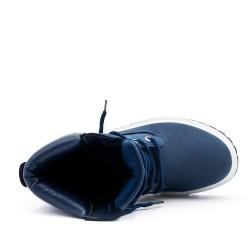 Botte bleu à lacet
