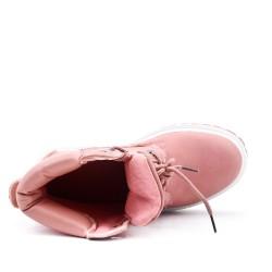 Botte rose à lacet