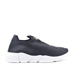 Zapatillas grises en textil elástico para poner.