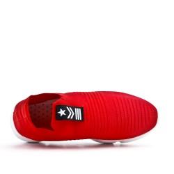 Canasta roja en textil elástico para poner.