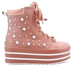 Pink boot with platform